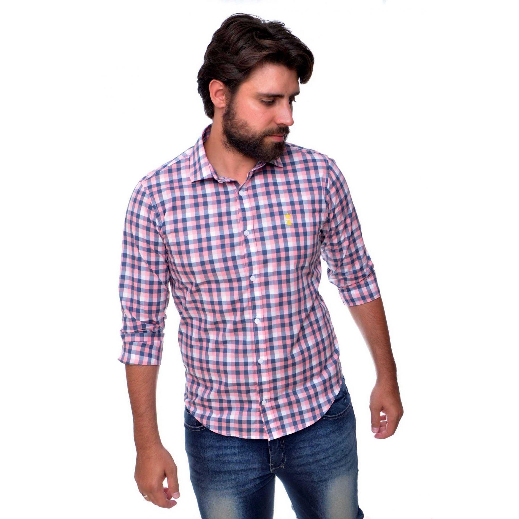 Camisa Social SK Xadrez Mini