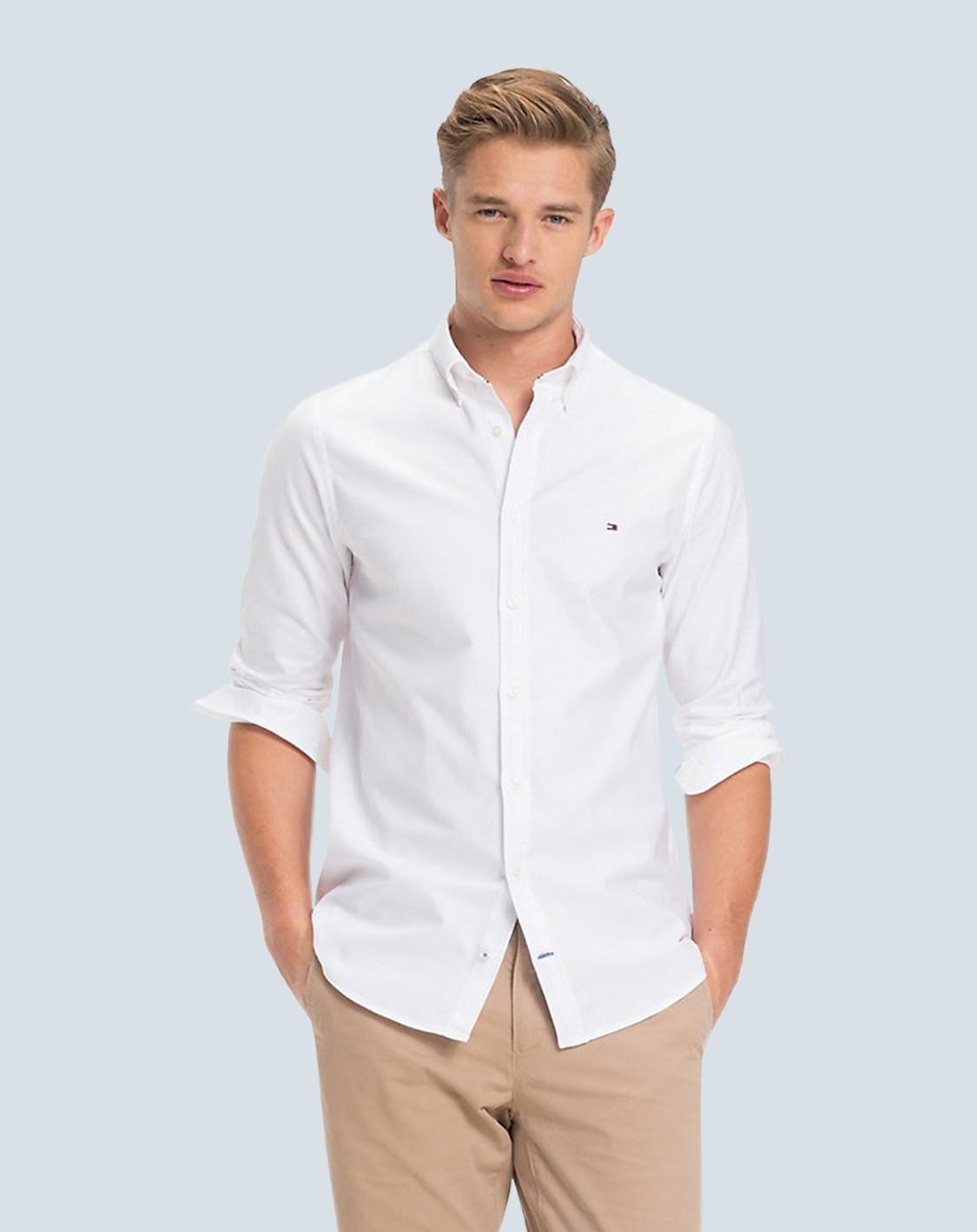 Camisa Social TH Branca Oxford