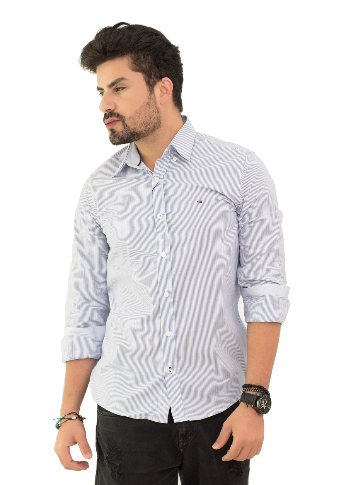 Camisa Social Th Listrada Azul  - Ca Brasileira