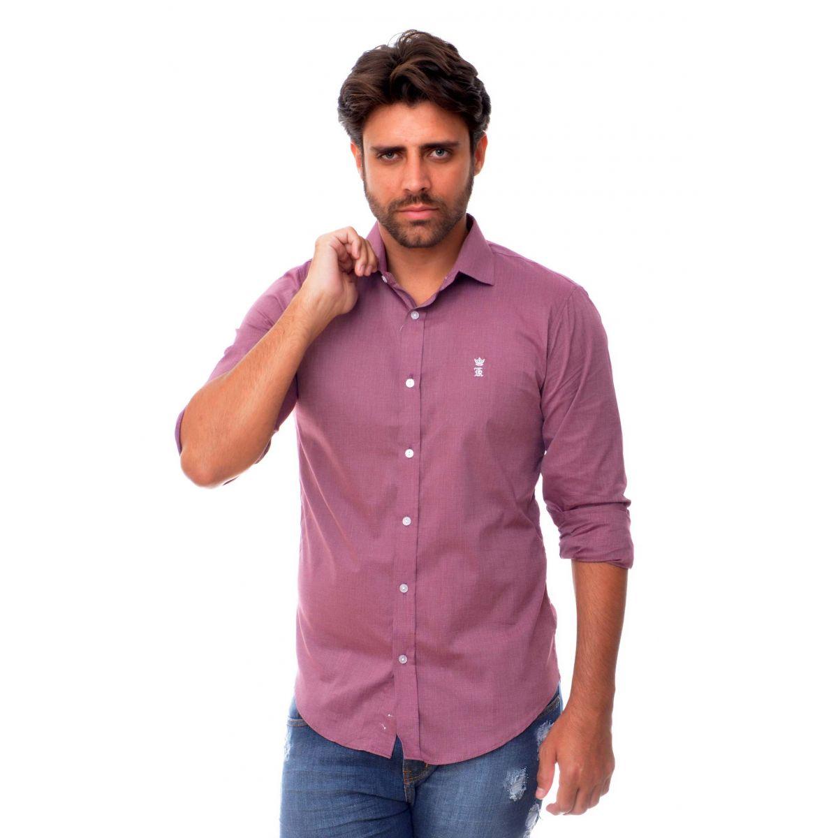 Camisa Social Vinho SK