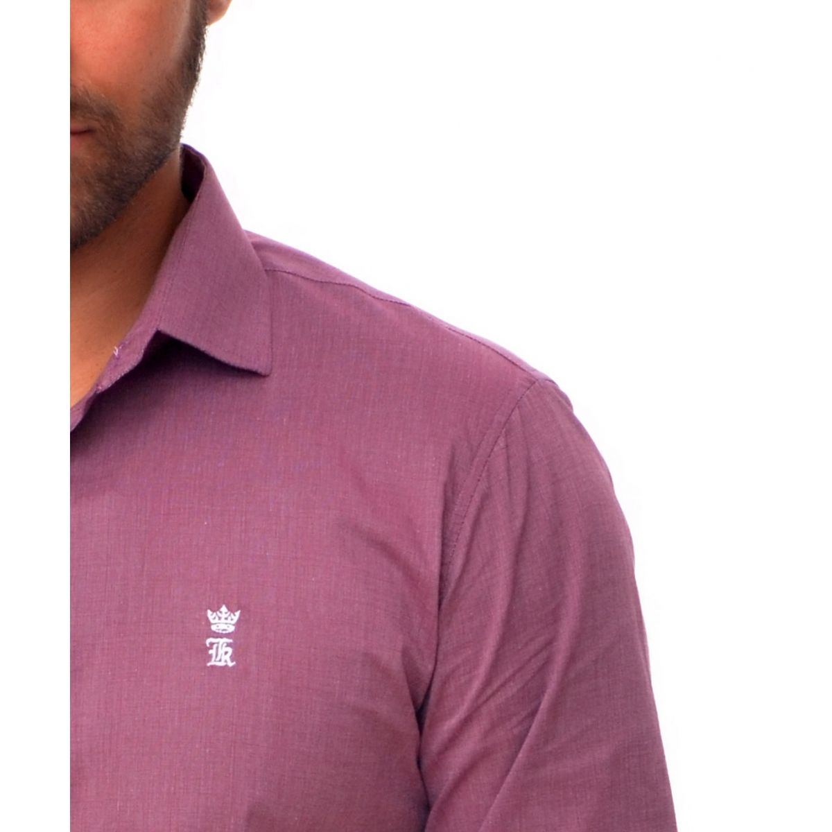Camisa Social Vinho SK  - Ca Brasileira