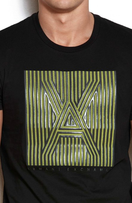 Camiseta Armani Exchange Box Logo Preta  - Ca Brasileira