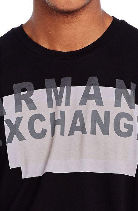 Camiseta Armani Exchange Box Preta  - Ca Brasileira