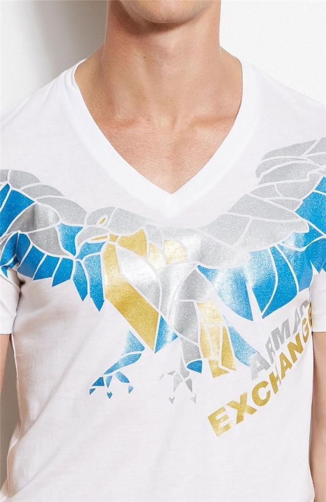 Camiseta Armani Exchange Eagle Branca  - Ca Brasileira