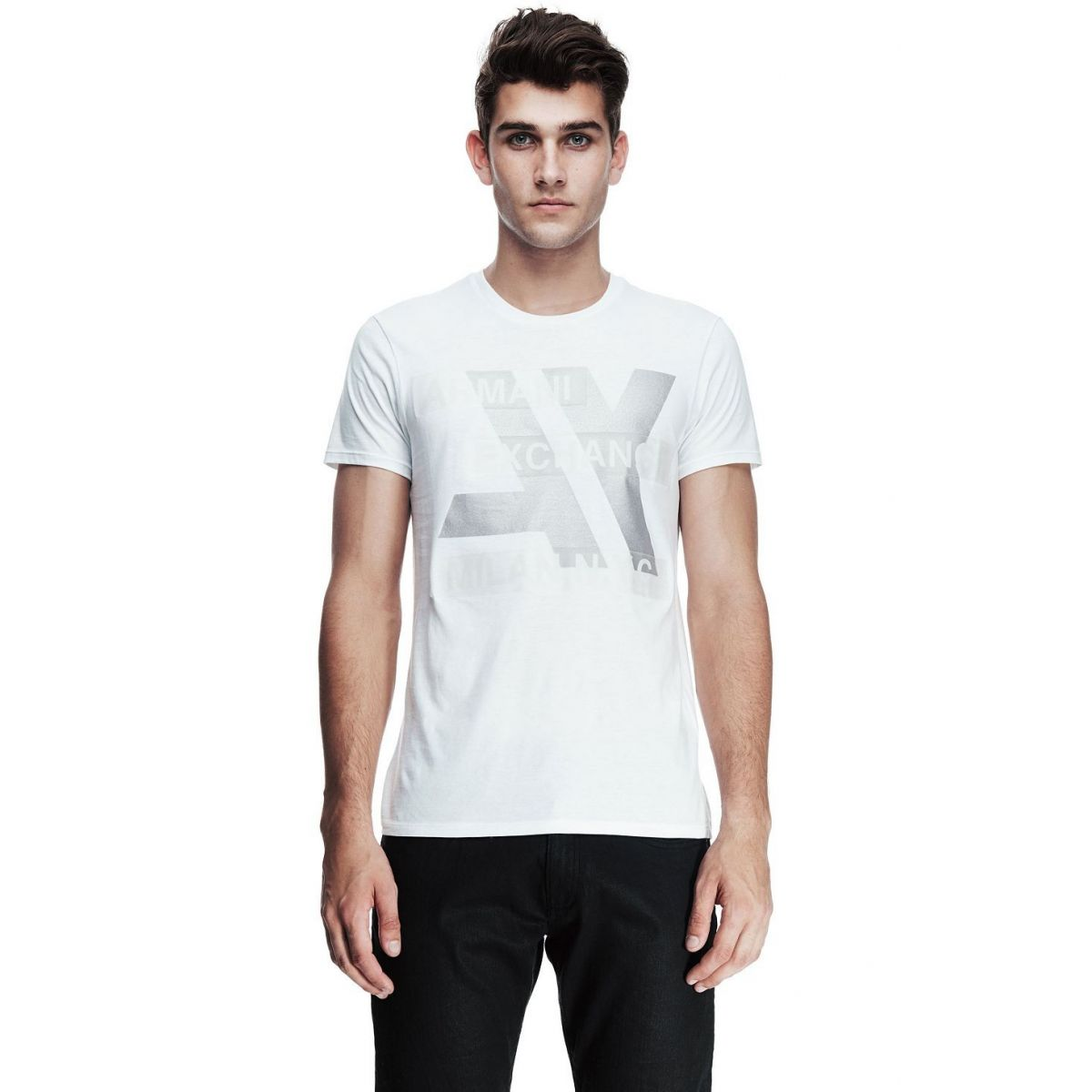 Camiseta Armani Exchange Hi Tech logo Branca