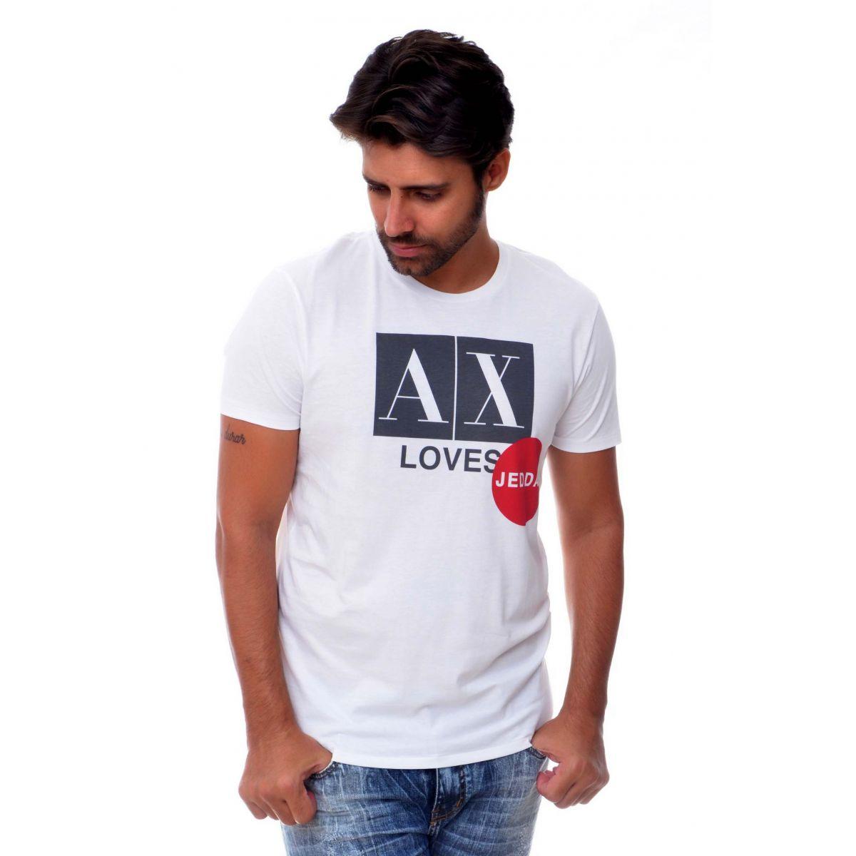 Camiseta Armani Exchange  Jeddah Branca  - Ca Brasileira