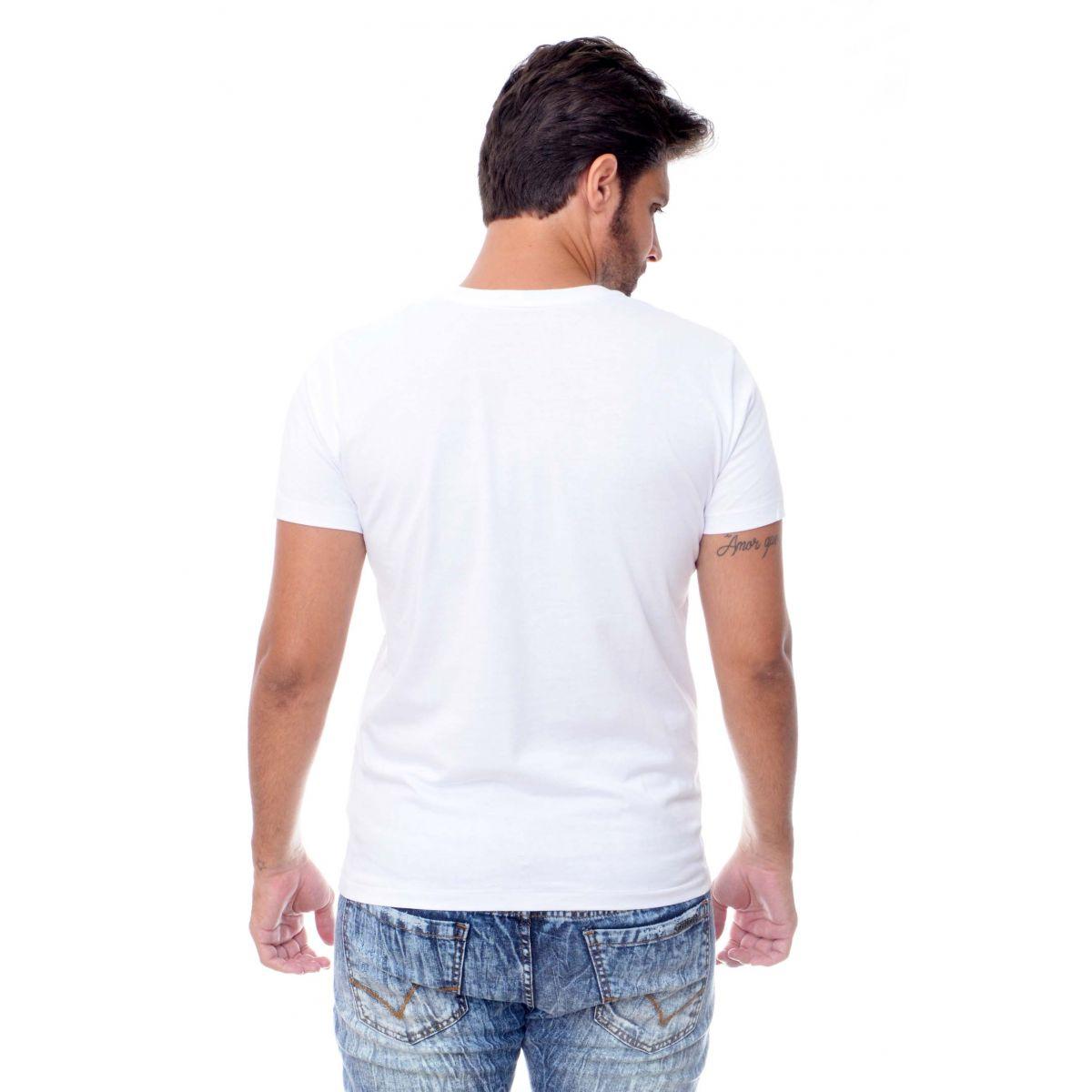 Camiseta Armani Exchange Letters Branca  - Ca Brasileira