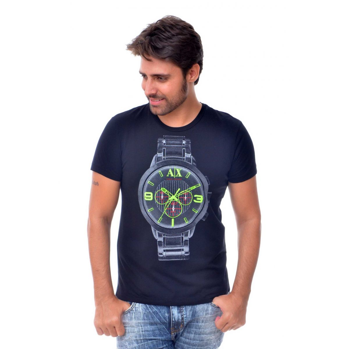Camiseta Armani Exchange Watch Preta