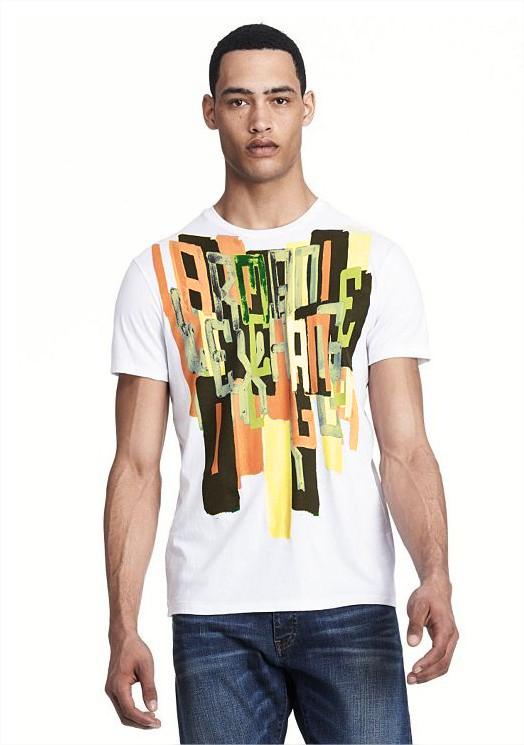Camiseta AX exploded Branca - Slim fit  - Ca Brasileira