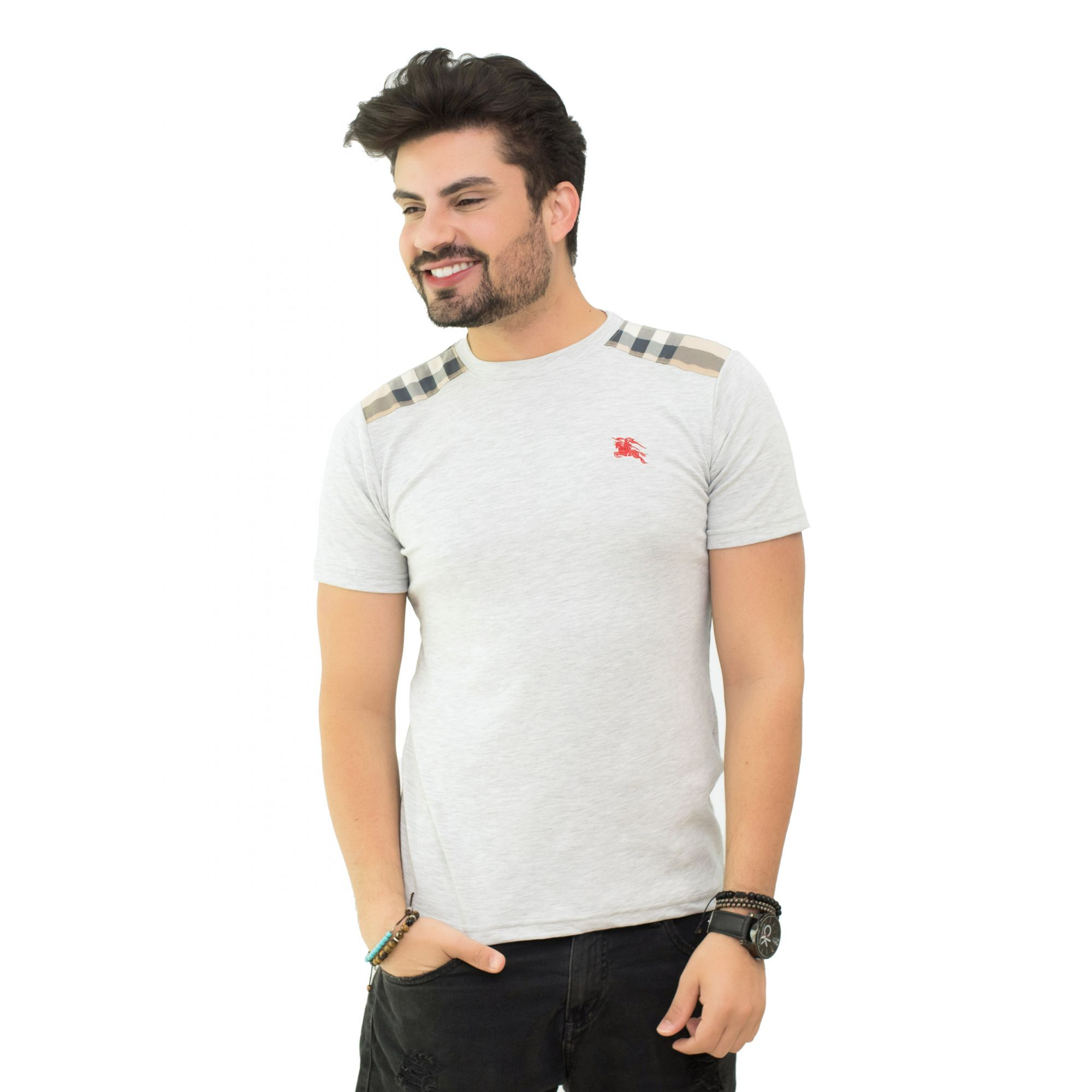 Camiseta Basic Brb Mescla Claro SLIM FIT