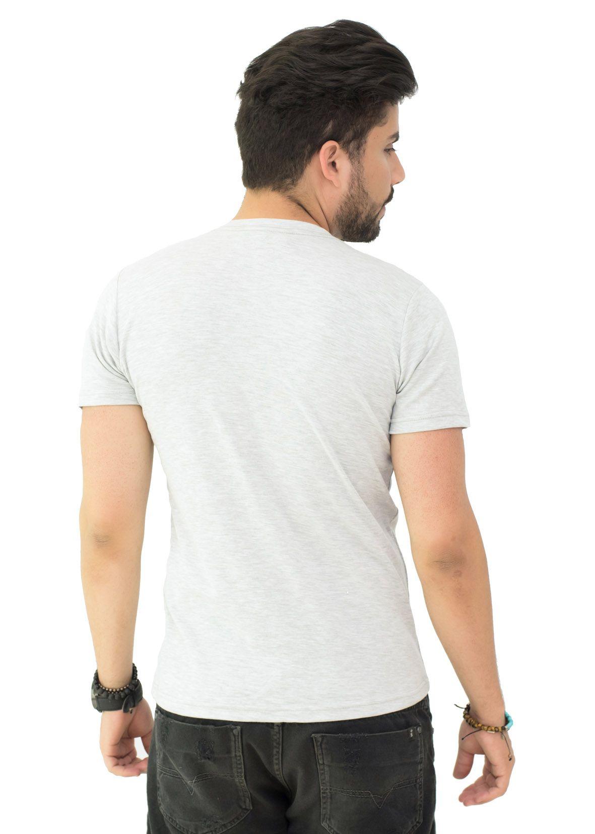 Camiseta Basic Brb Mescla Claro SLIM FIT  - Ca Brasileira