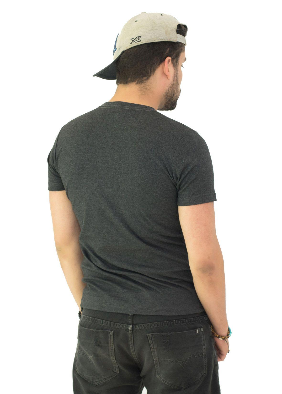 Camiseta Basic Brb Mescla Escuro SLIM FIT  - Ca Brasileira