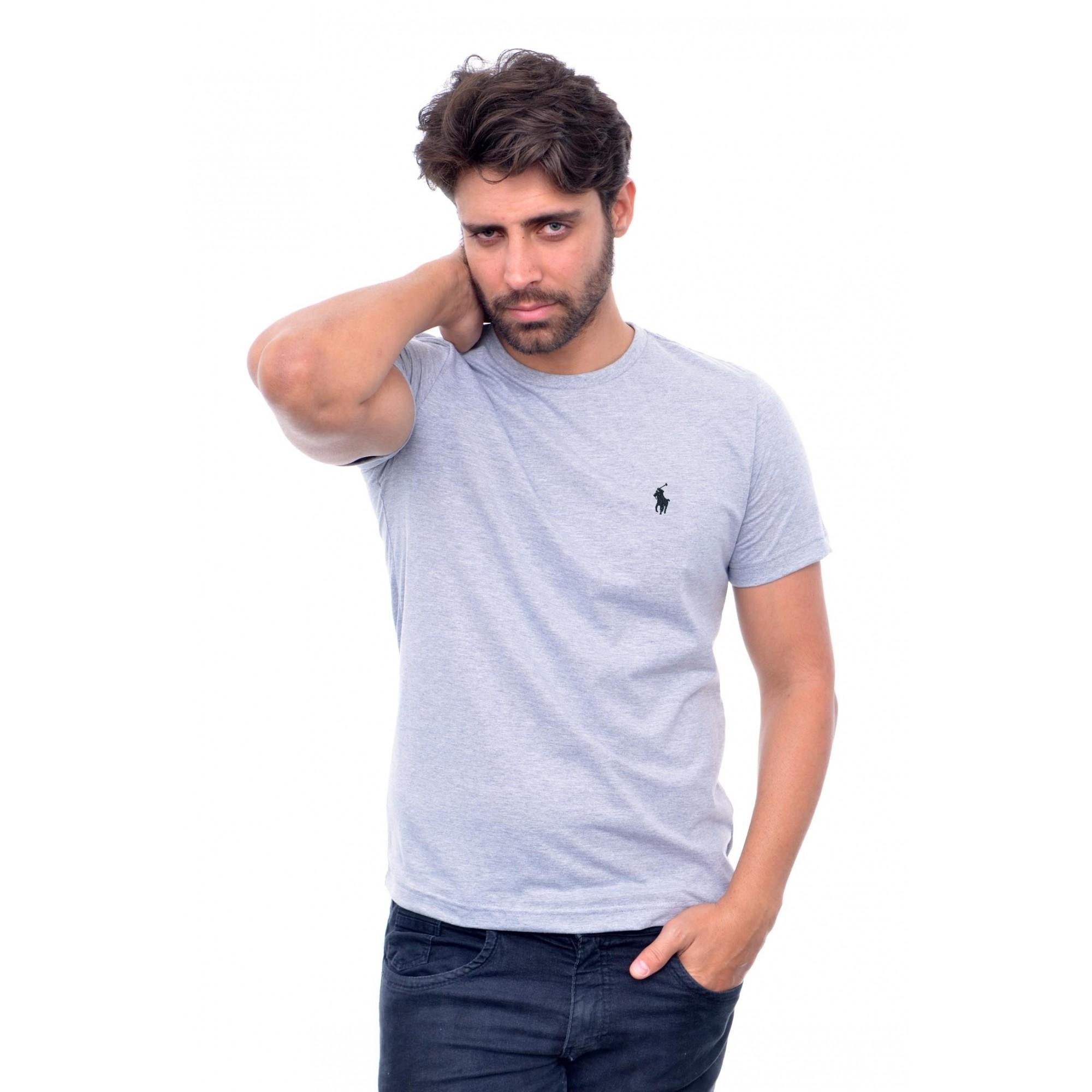 Camiseta Basic Ralph Lauren Cinza 2