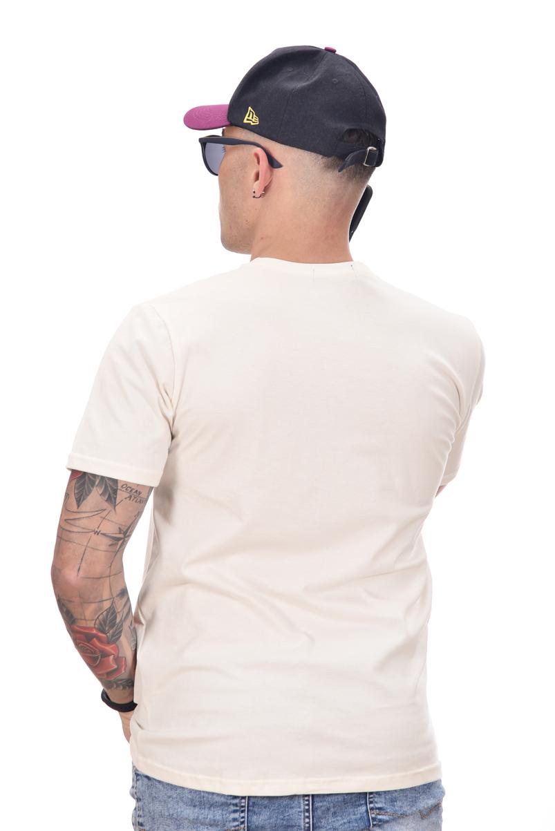 Camiseta Basic Ralph Lauren Off white / Lilas  - Ca Brasileira