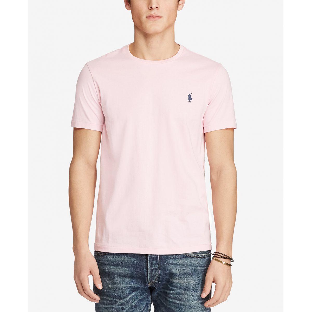 Camiseta Basic Ralph Lauren Rosa  - Ca Brasileira