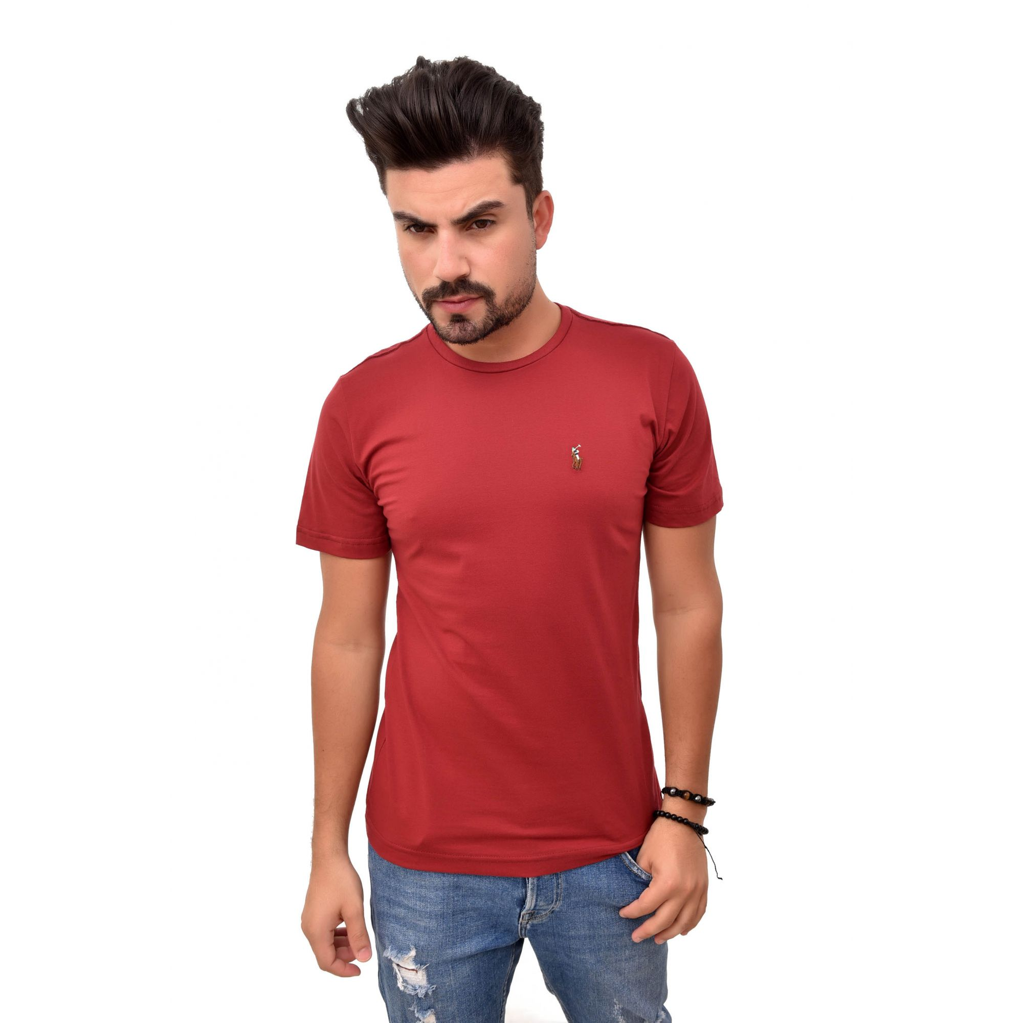 Camiseta Basic RL Vinho Colored