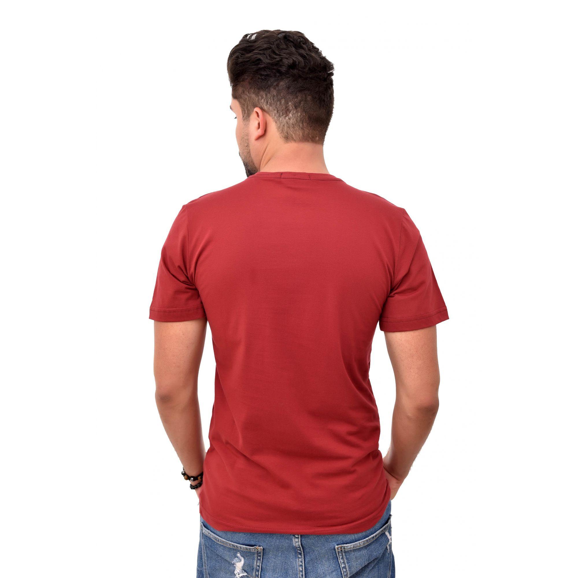 Camiseta Basic RL Vinho Colored  - Ca Brasileira
