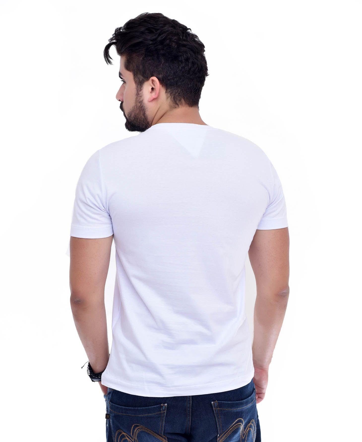 Camiseta Bolso TH Branco / Marinho  - Ca Brasileira
