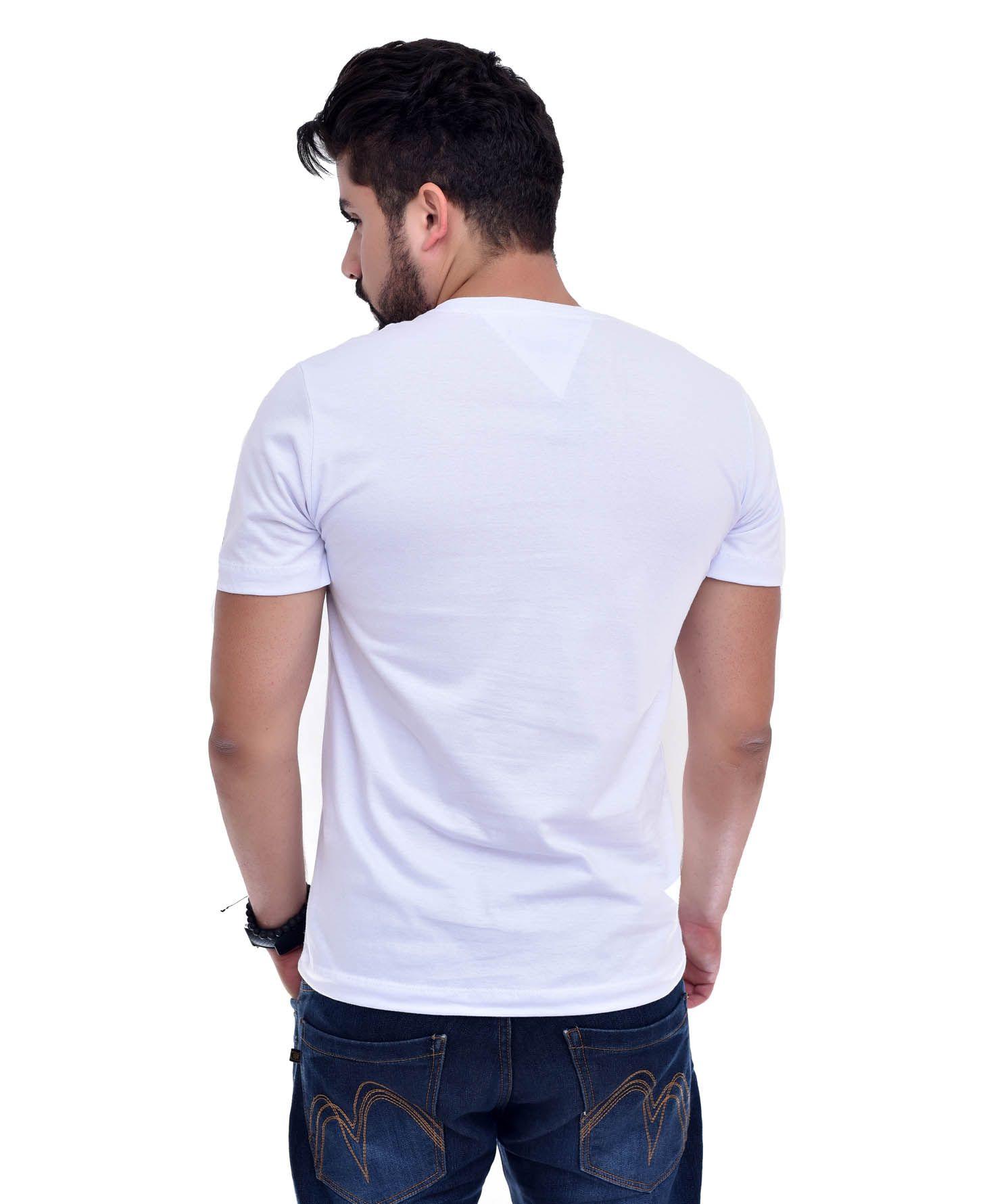 Camiseta Bolso TH Branco / Mescla Escuro  - Ca Brasileira