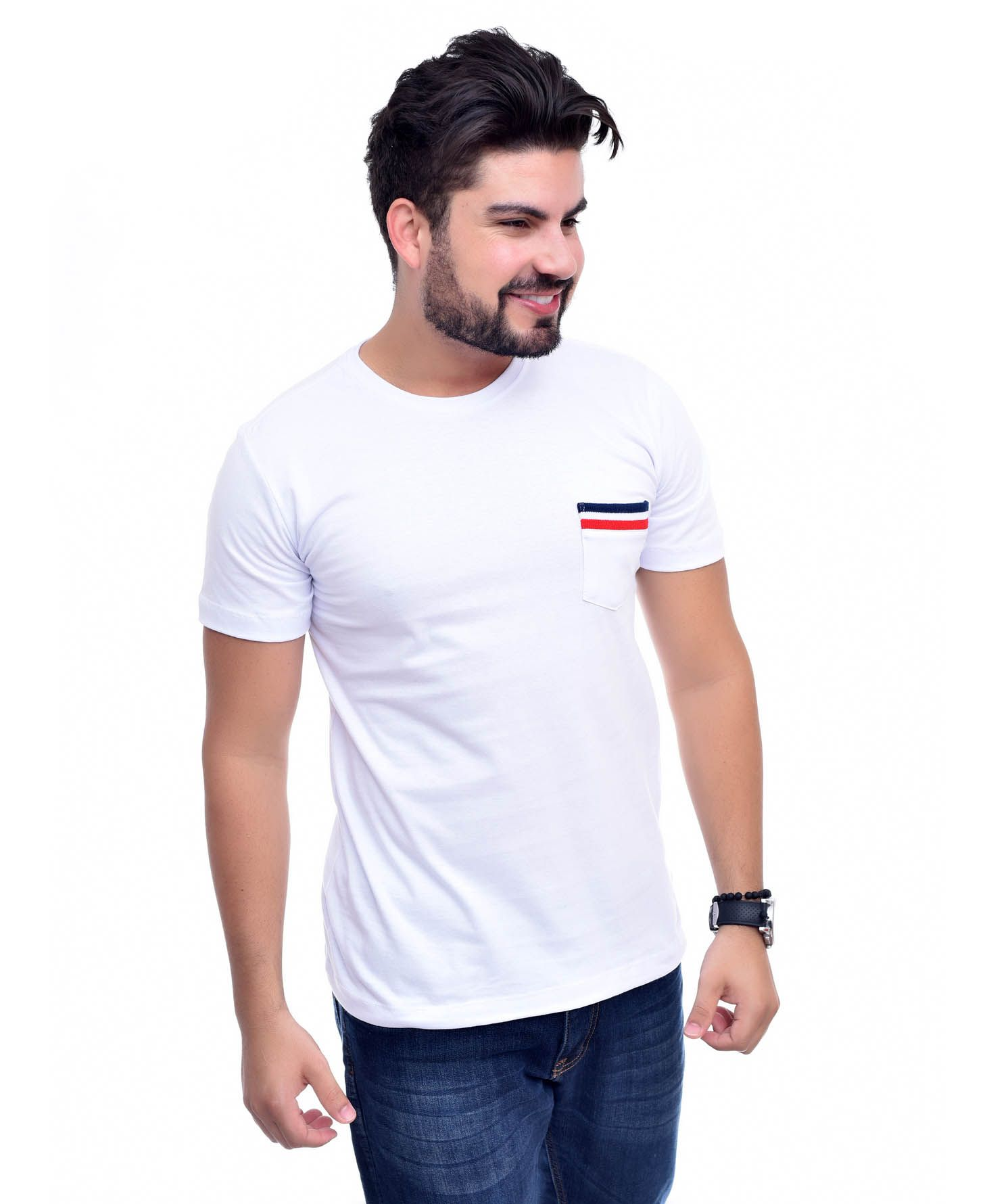Camiseta Bolso TH Branco Top