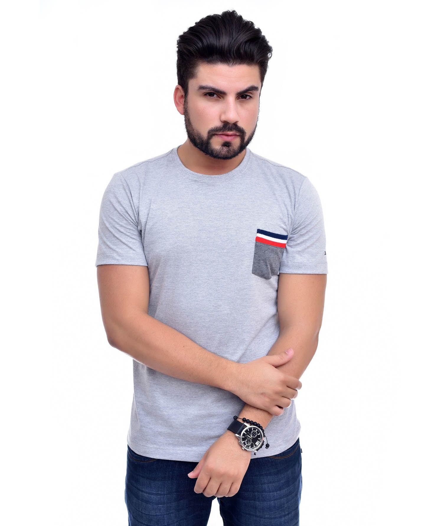Camiseta Bolso TH Mescla Claro / ME