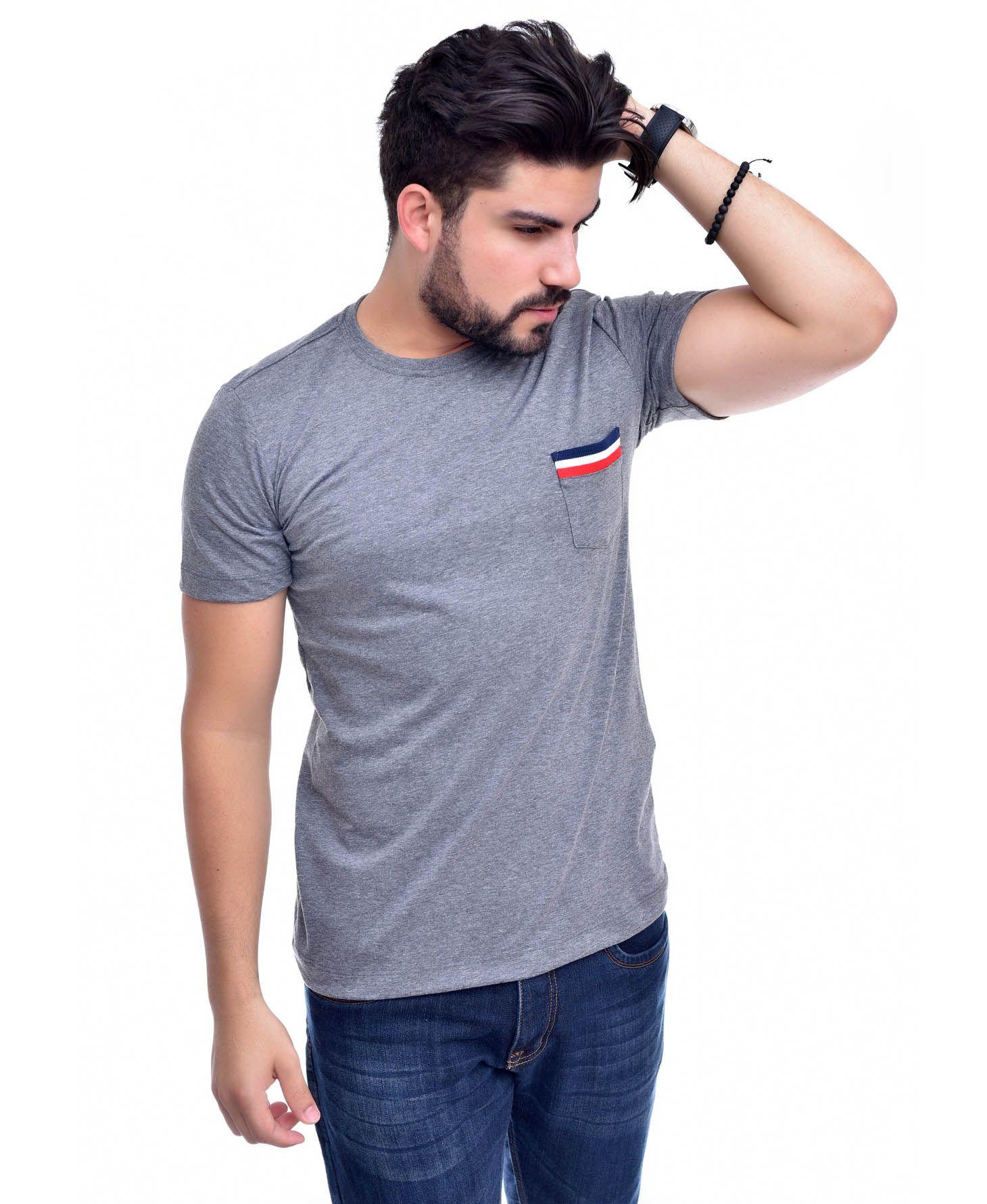 Camiseta Bolso TH Mescla Escuro / ME