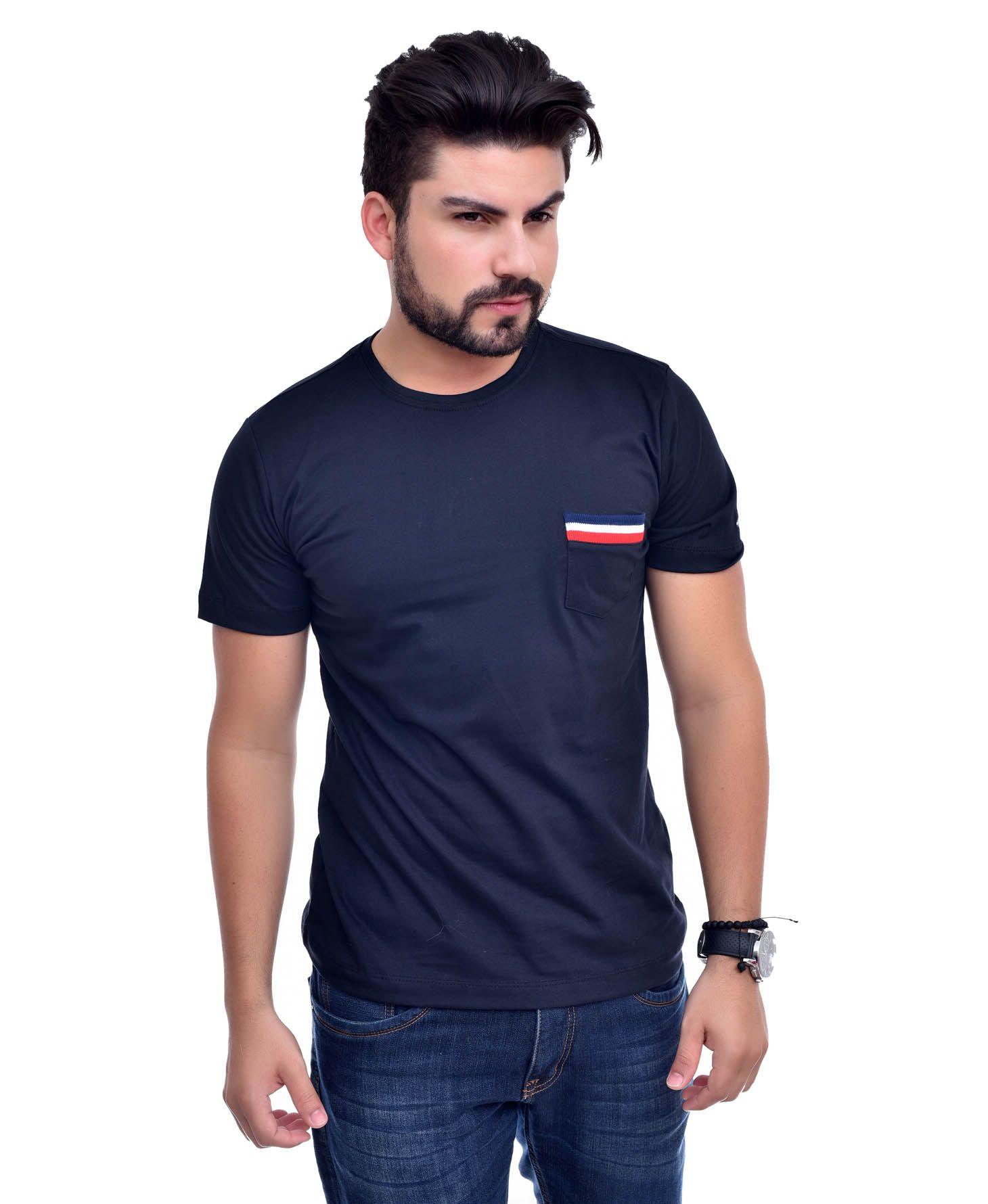 Camiseta Bolso Th Preta / Pta