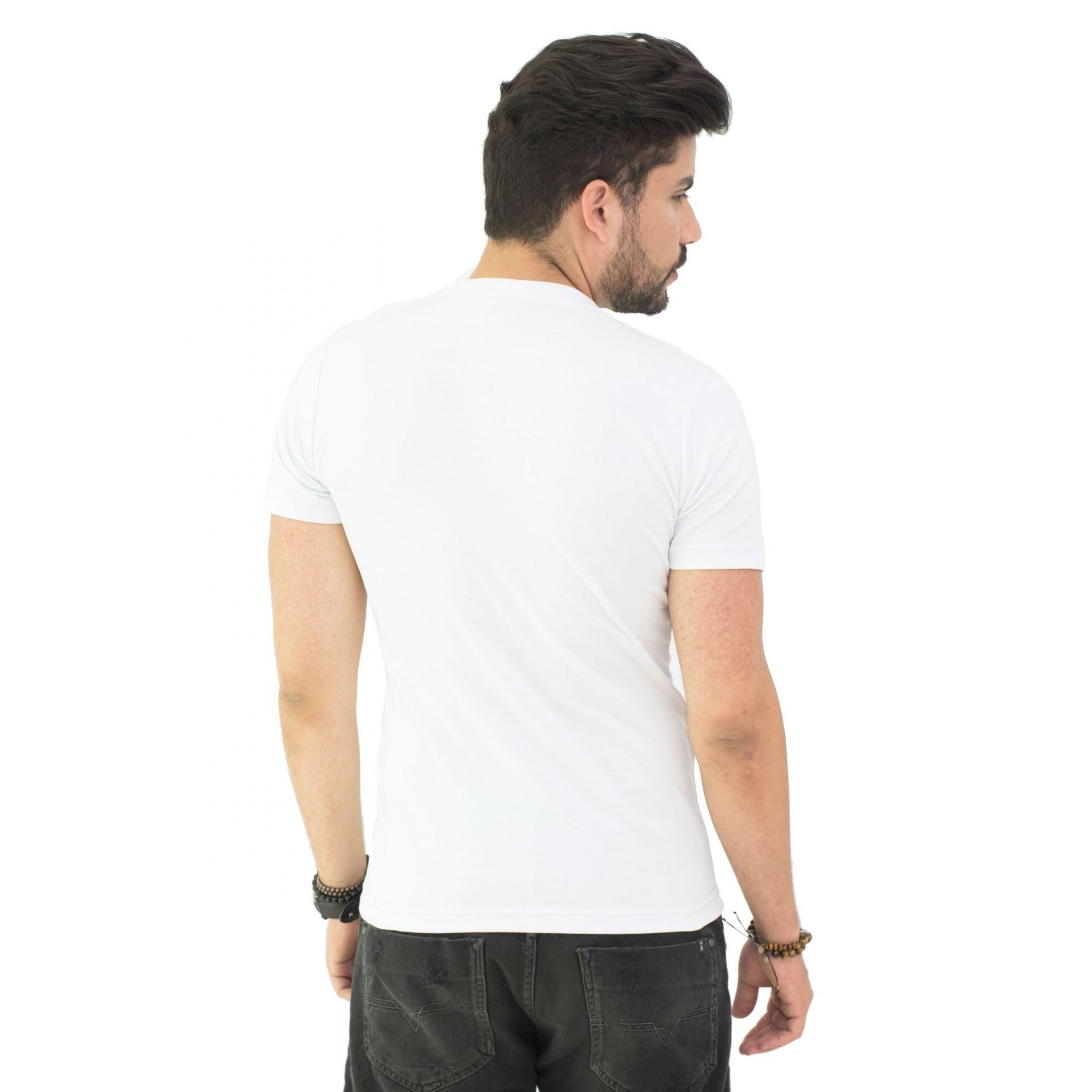 Camiseta Brb-01 Branca SLIM FIT  - Ca Brasileira