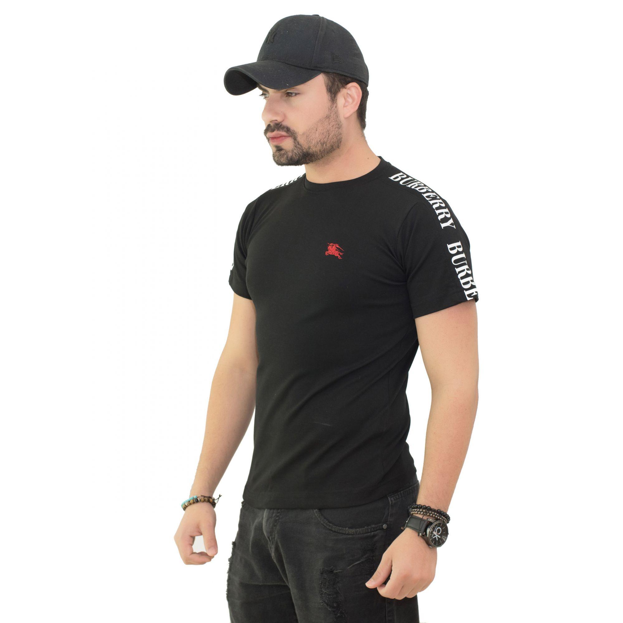 Camiseta Brb-03 Preta SLIM FIT  - Ca Brasileira