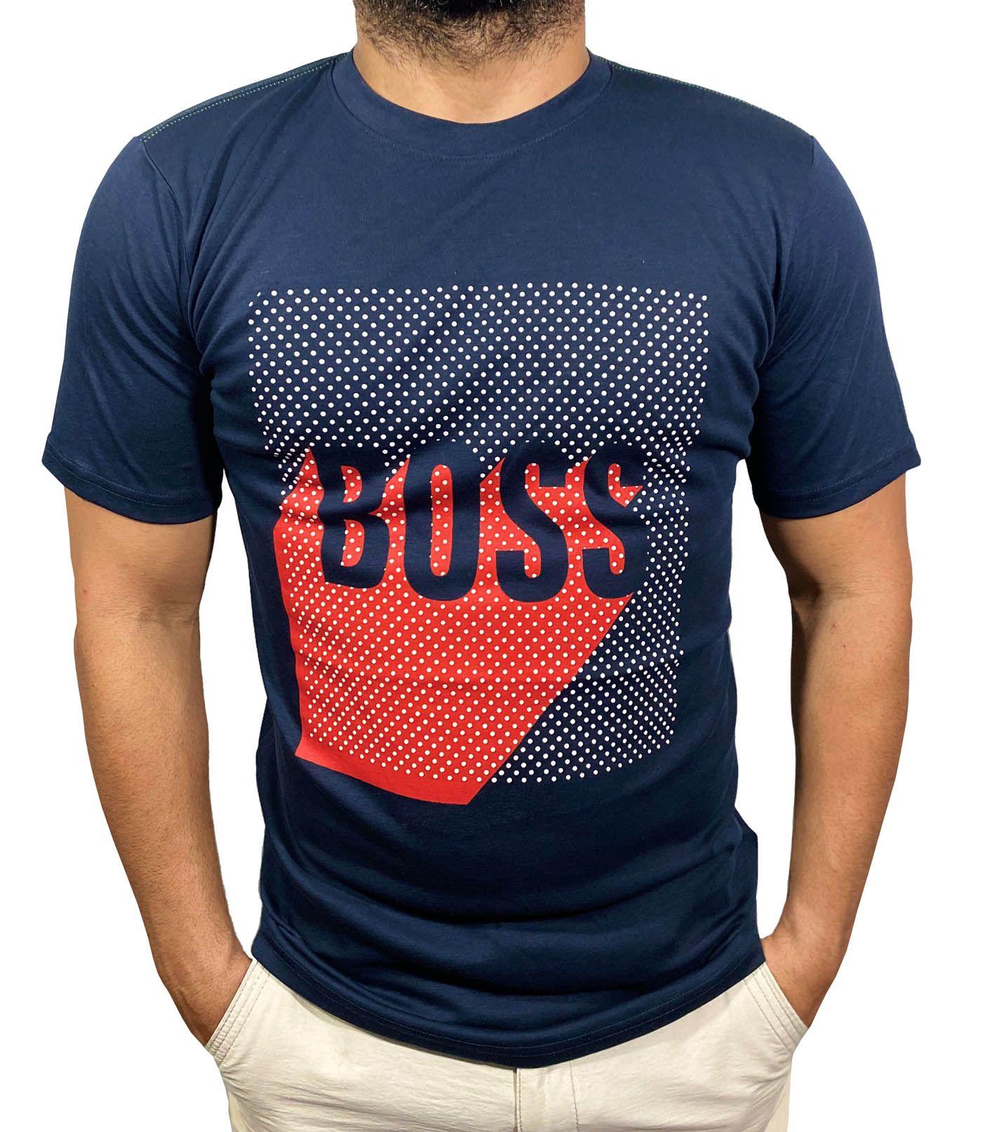 Camiseta HB Marinho - 02 Slim Fit  - Ca Brasileira