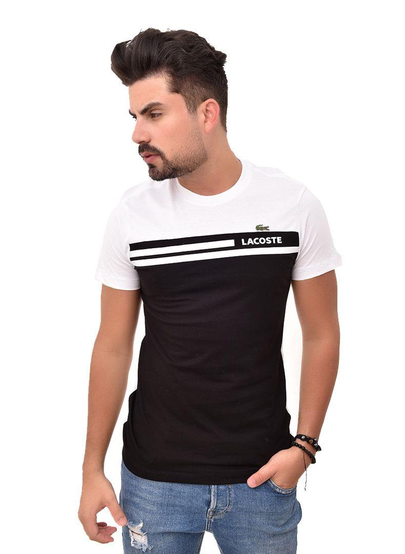 Camiseta L-06 Branca / Preta