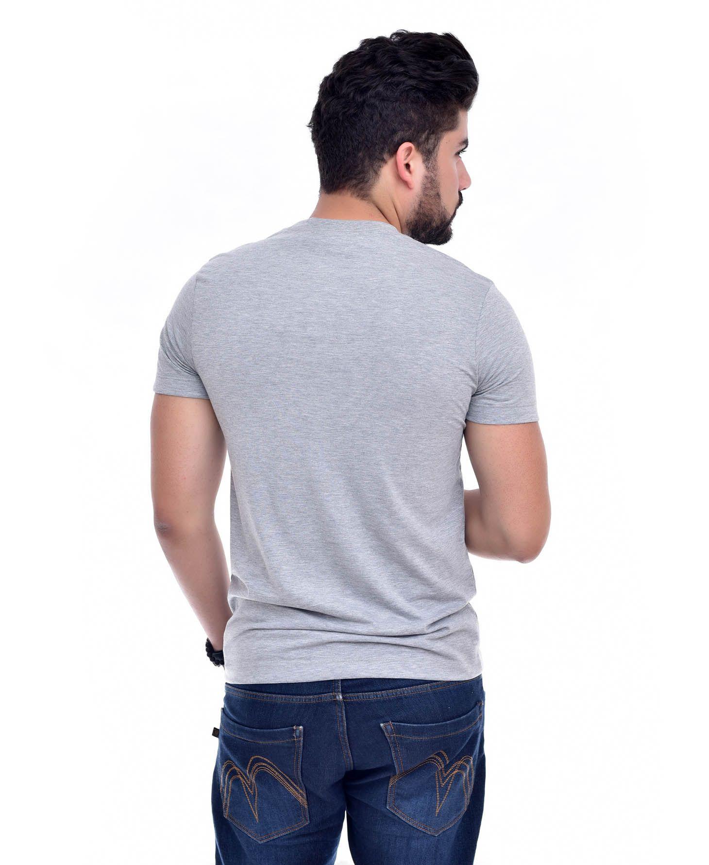 Camiseta L-06 Mescla Claro   - Ca Brasileira