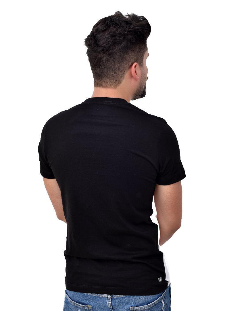 Camiseta L-07 Preto / Branco   - Ca Brasileira