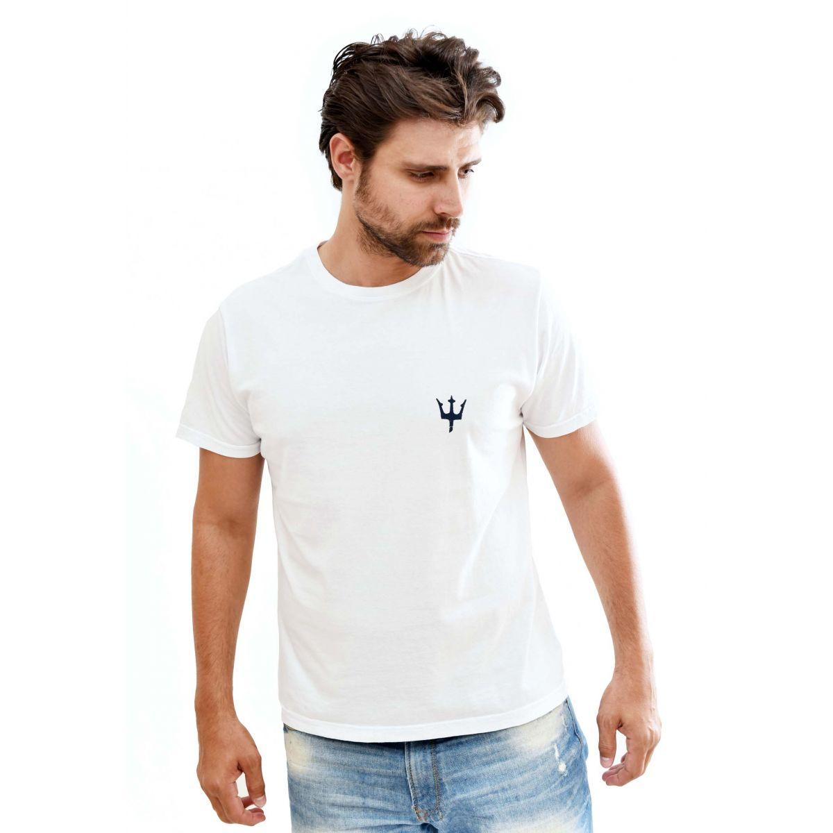 Camiseta Osklen Diving Branca  - Ca Brasileira