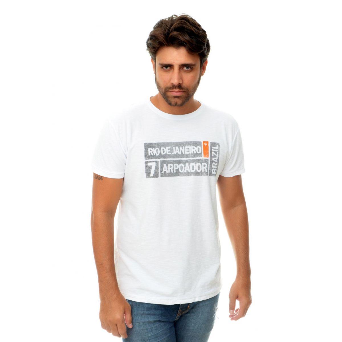Camiseta Osklen RJ7 Branco  - Ca Brasileira