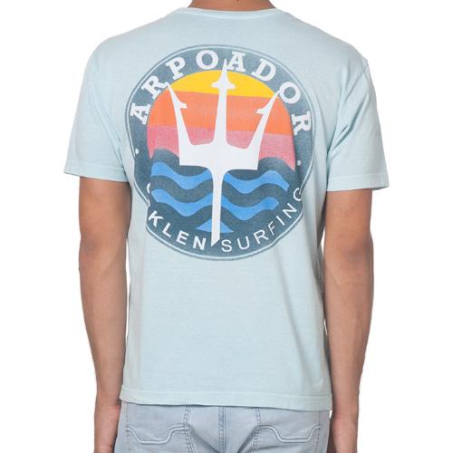 Camiseta Osklen Brasão Azul Claro  - Ca Brasileira