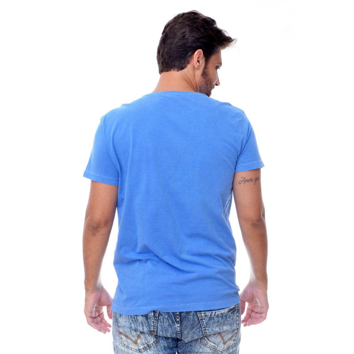 Camiseta Osklen Since Azul  - Ca Brasileira
