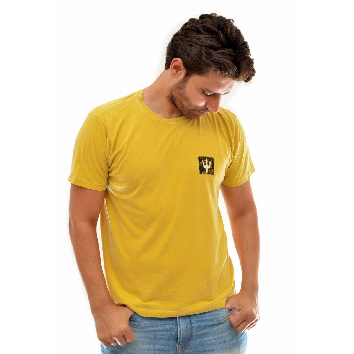 Camiseta Osklen Tridente Amarelo  - Ca Brasileira