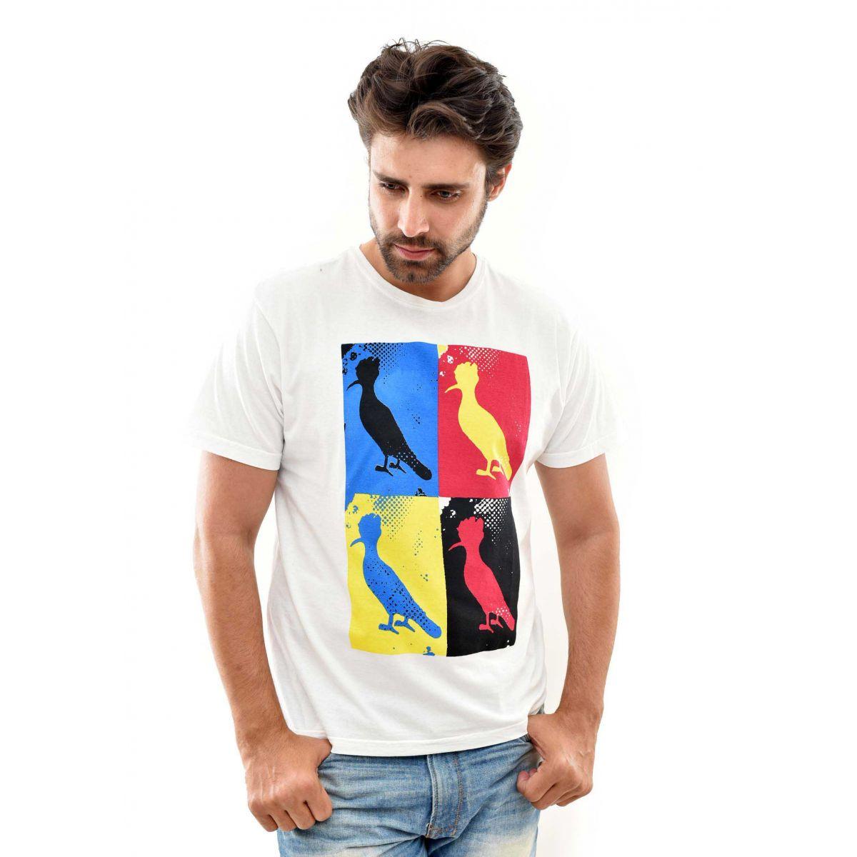 Camiseta Reserva Quadros Branca  - Ca Brasileira