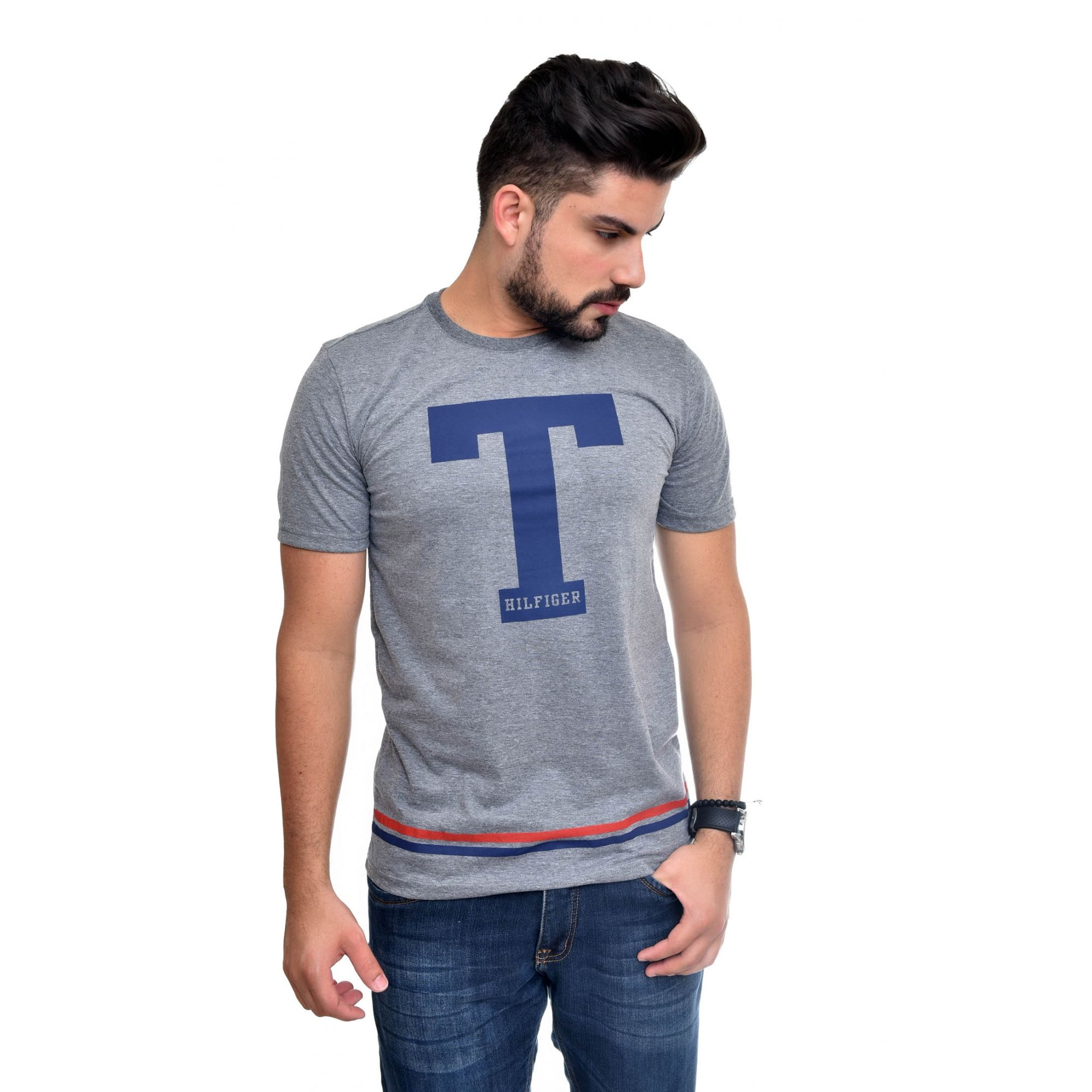 Camiseta TH Big T Mescla Escuro