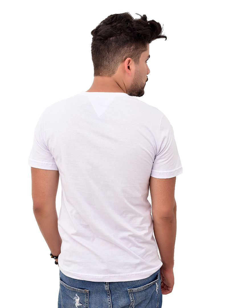 Camiseta TH Branca Lines Azul  - Ca Brasileira