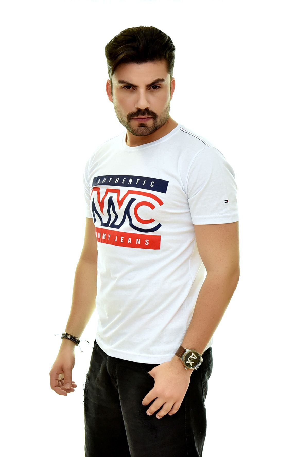 Camiseta TH Branca NYC