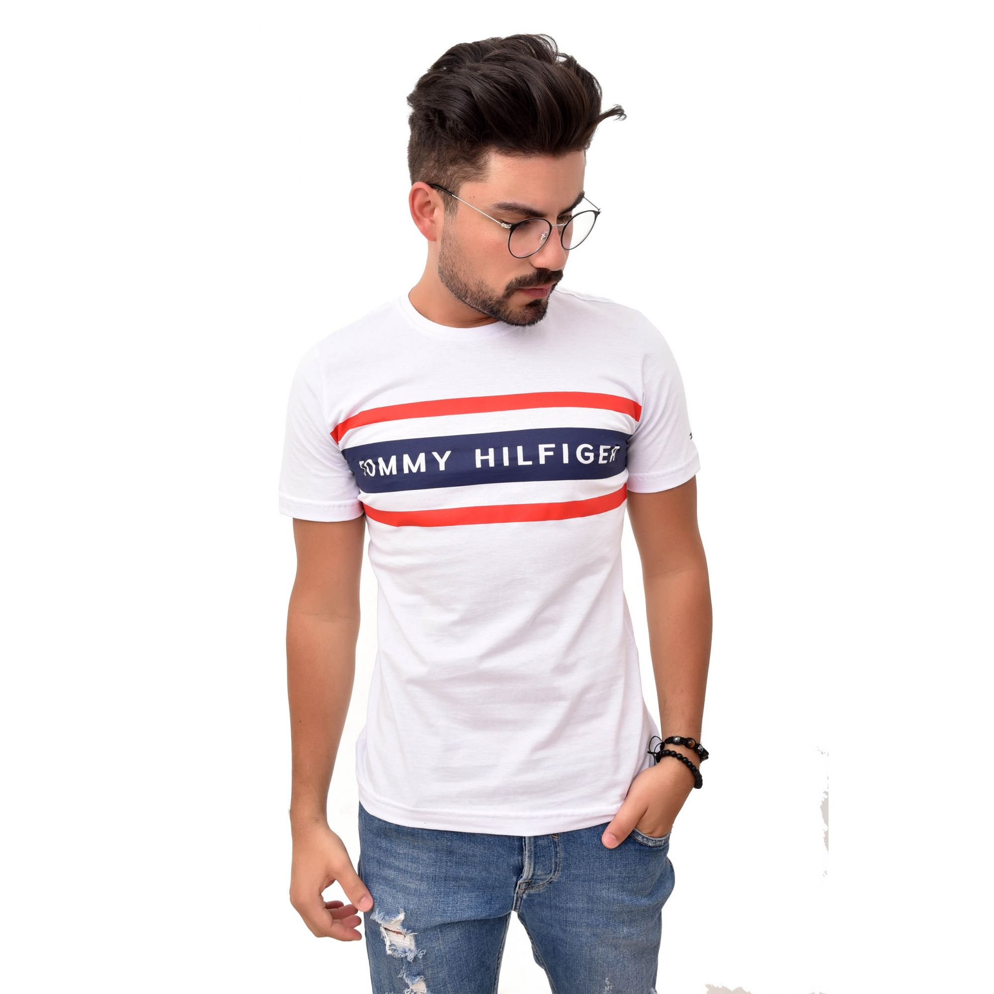 Camiseta TH Lines  White
