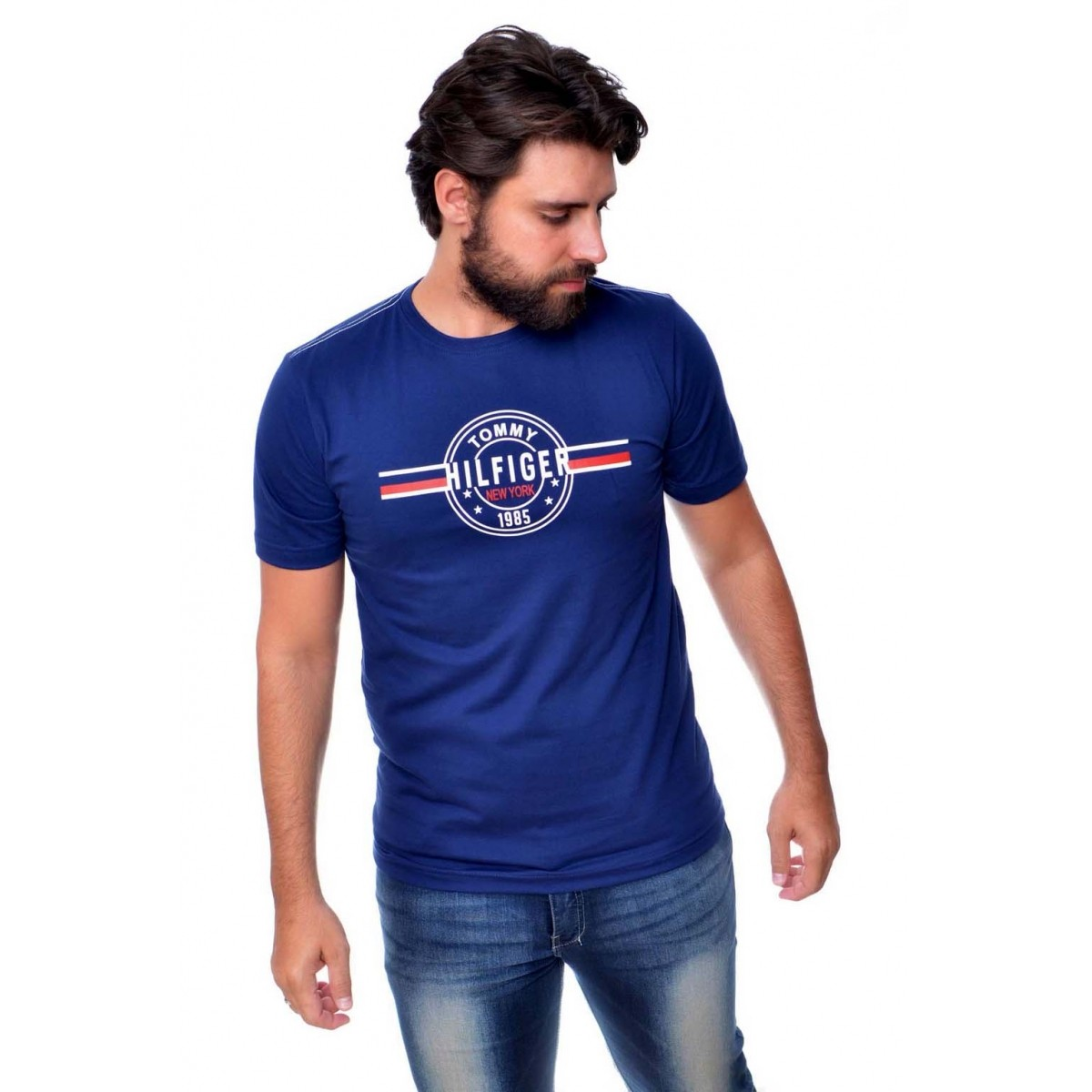 Camiseta TH Logo Marinho  - Ca Brasileira