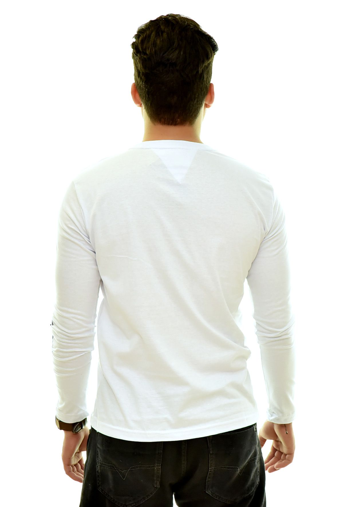 Camiseta TH Manga Longa Branca 04  - Ca Brasileira