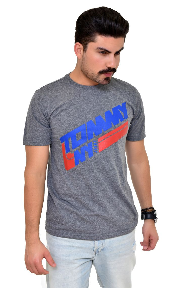 Camiseta TH Mescla Escuro NY - Custom Fit