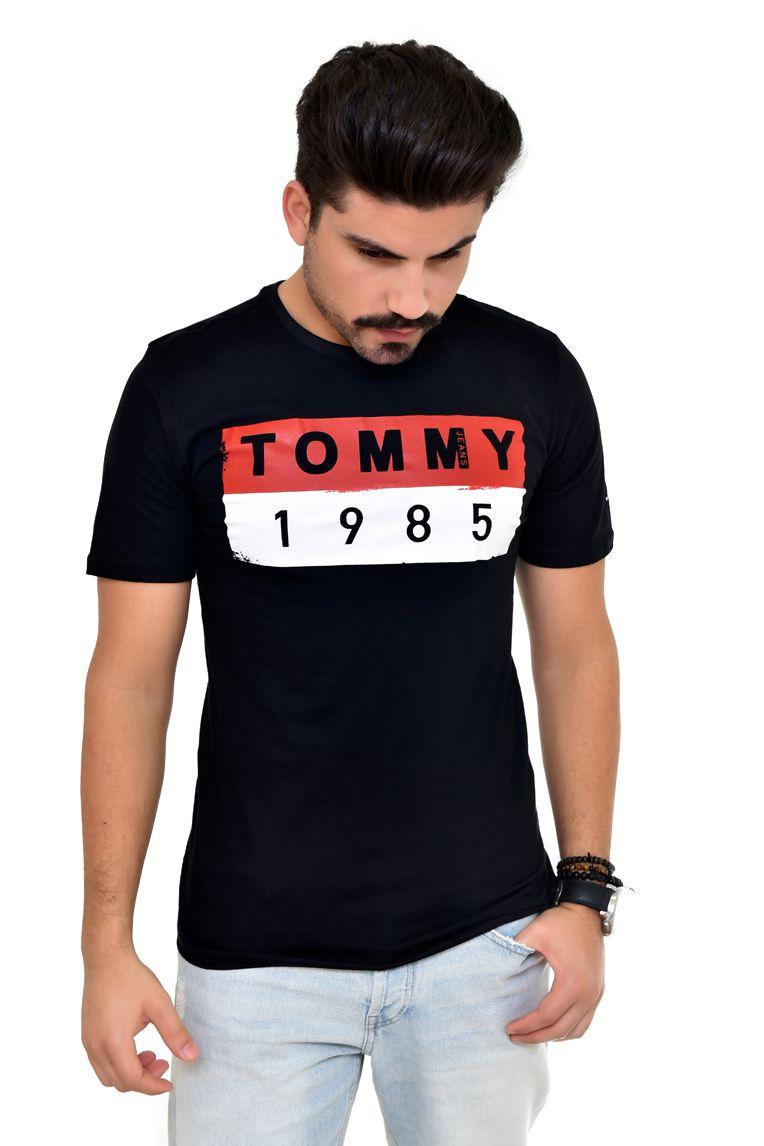 Camiseta TH Preta Block 1985