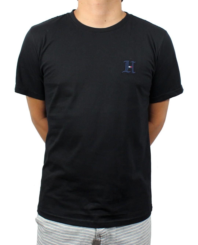 Camiseta TH Preta Logo H  - Ca Brasileira