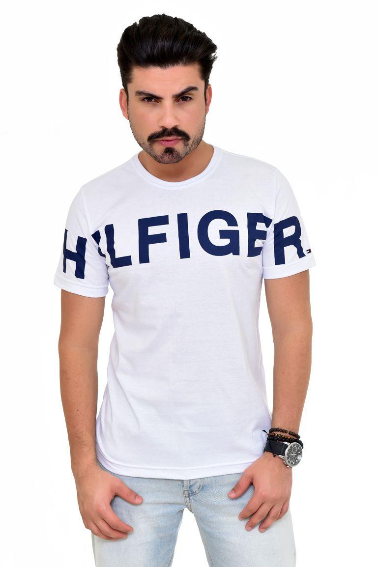 Camiseta TH Print Branca