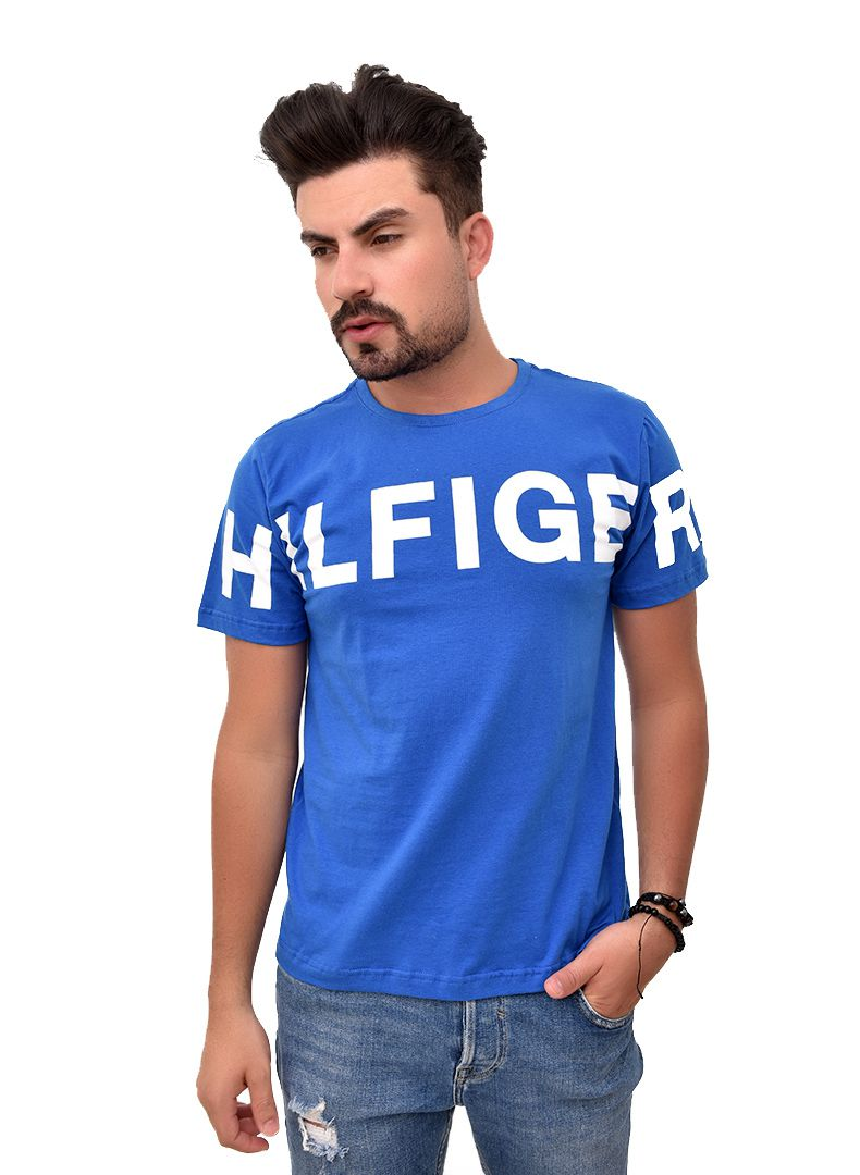 Camiseta TH Print  Royal